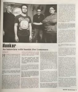 Honker Interview in Carousel Magazine